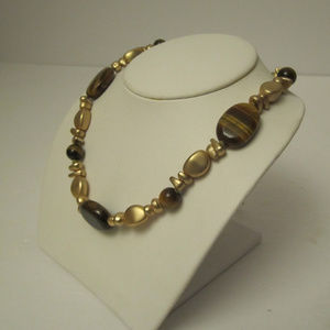 Chaps Jewelry - Tiger's Eye Beaded Necklace by Chaps